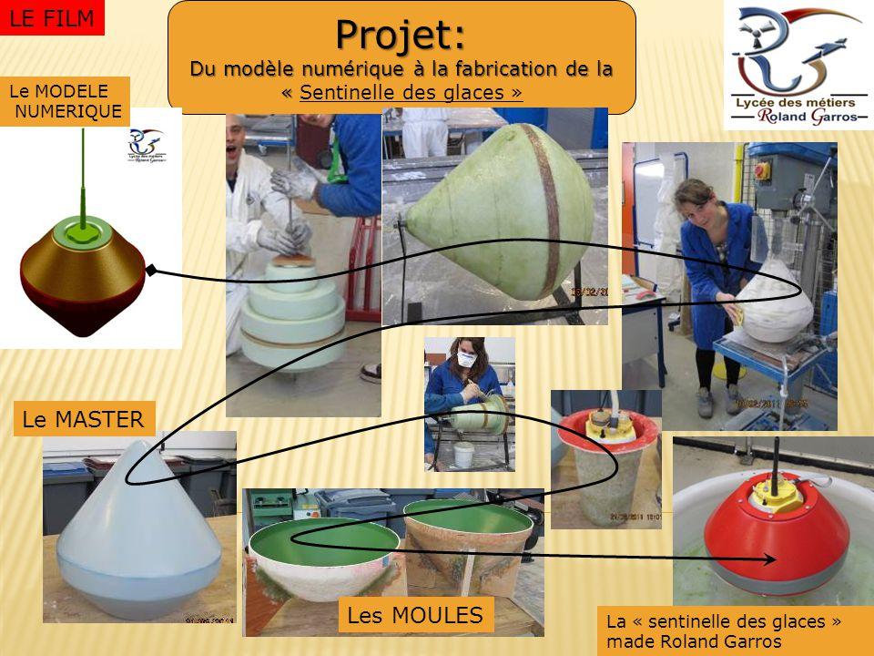 Projet: Du modèle numérique à la fabrication de la « Projet: Du modèle numérique à la fabrication de la « Sentinelle des glaces » Le MASTER Les MOULES Le MODELE NUMERIQUE La « sentinelle des glaces » made Roland Garros LE FILM