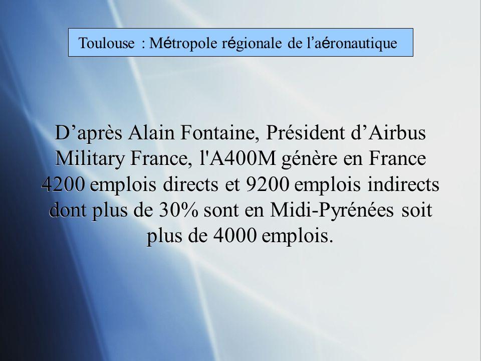 Le 9 mars 2010 lA 400M se pose pour la première fois à Toulouse
