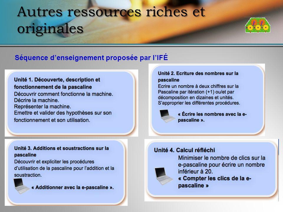 Autres ressources riches et originales Séquence denseignement proposée par lIFÉ