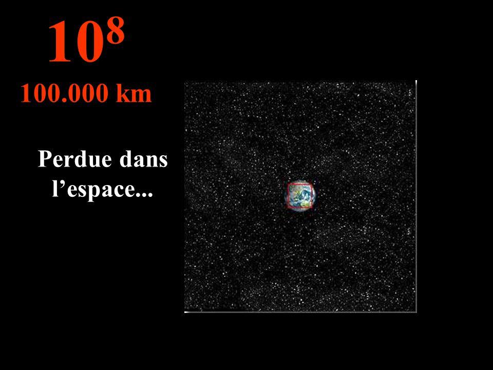 Perdue dans lespace... 10 8 100.000 km