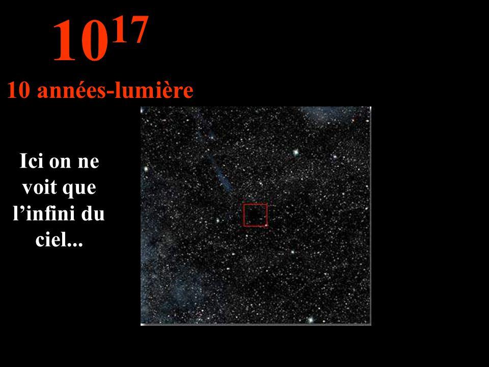 Ici on ne voit que linfini du ciel... 10 17 10 années-lumière