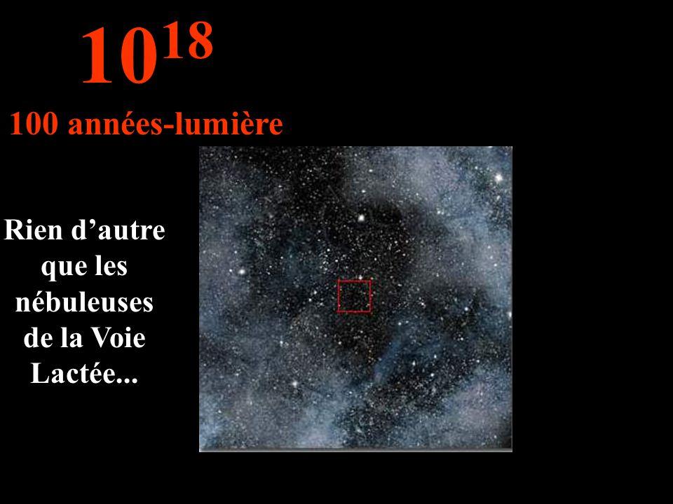 Rien dautre que les nébuleuses de la Voie Lactée... 10 18 100 années-lumière