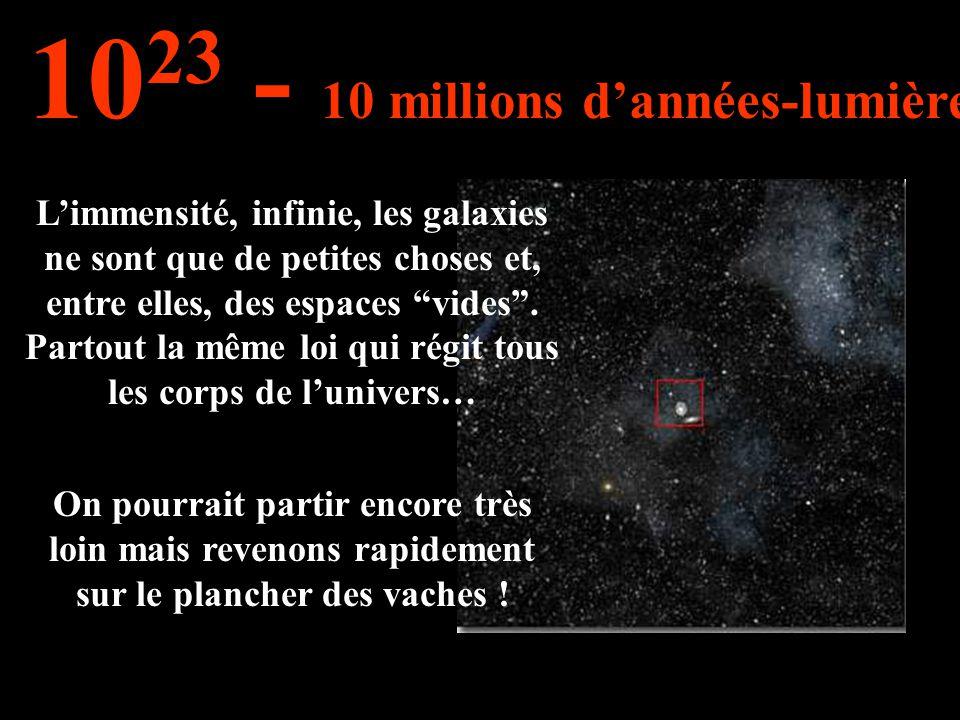 Limmensité, infinie, les galaxies ne sont que de petites choses et, entre elles, des espaces vides. Partout la même loi qui régit tous les corps de lu