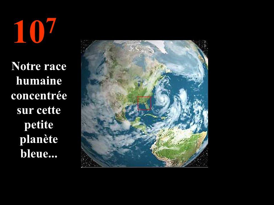 10 7 Notre race humaine concentrée sur cette petite planète bleue...