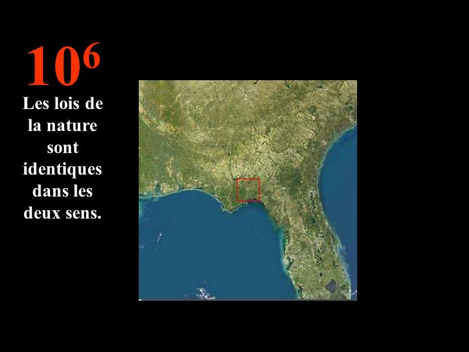 10 6 Les lois de la nature sont identiques dans les deux sens.