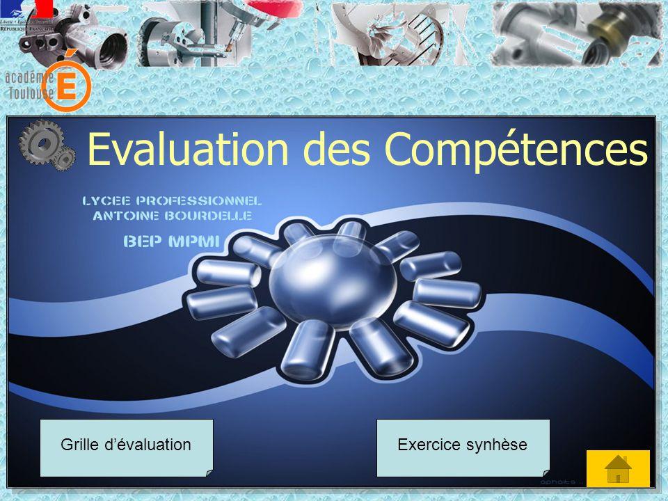 Evaluation des Compétences Grille dévaluationExercice synhèse