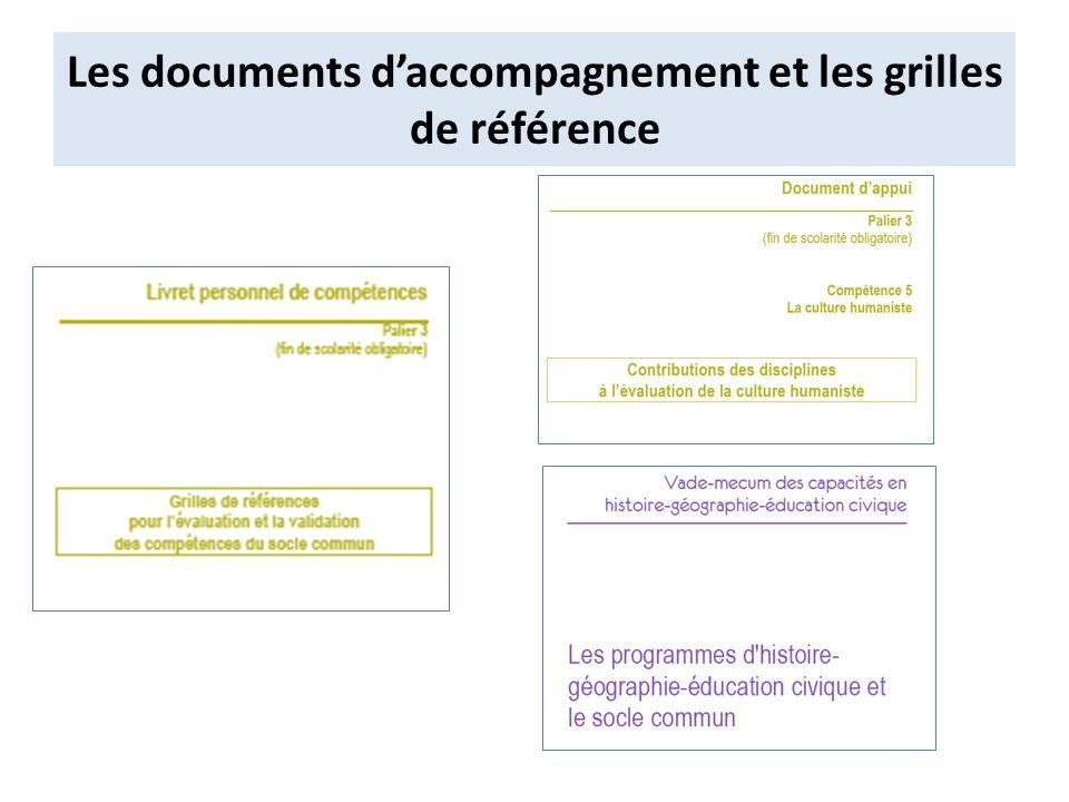 Les documents daccompagnement et les grilles de référence