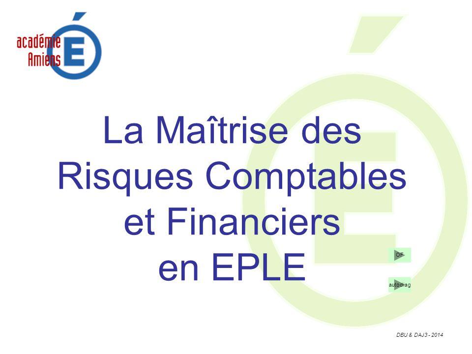 DBU & DAJ3 - 2014 La Maîtrise des Risques Comptables et Financiers en EPLE OF autodiag