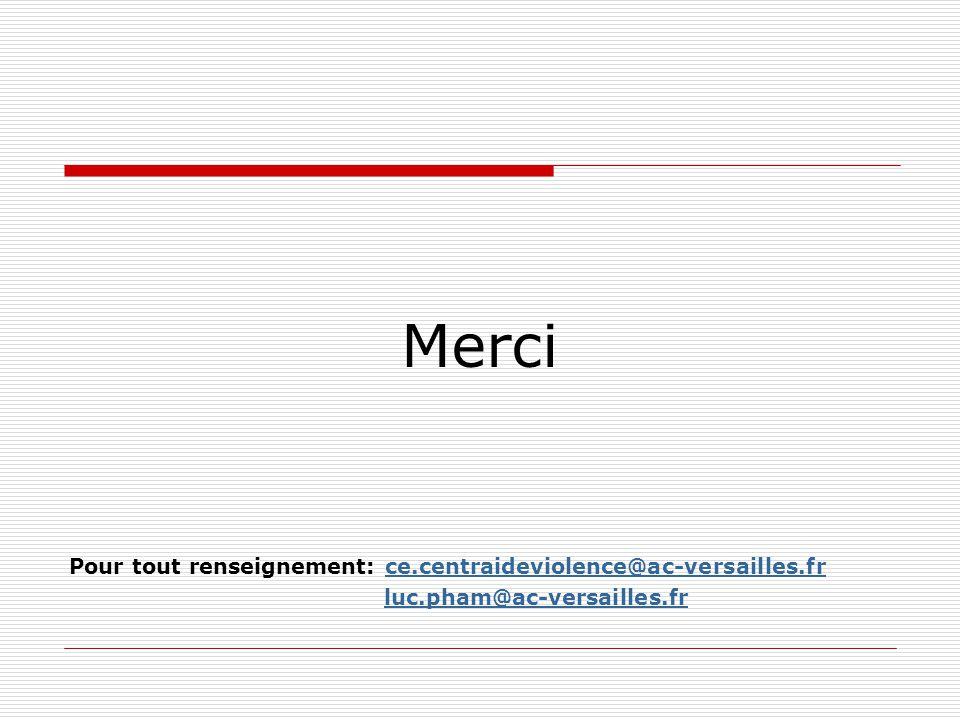 Merci Pour tout renseignement: ce.centraideviolence@ac-versailles.frce.centraideviolence@ac-versailles.fr luc.pham@ac-versailles.fr
