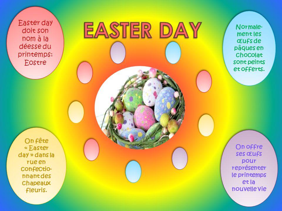 Easter day doit son nom à la déesse du printemps: Eostre Easter day doit son nom à la déesse du printemps: Eostre Normale- ment les œufs de pâques en