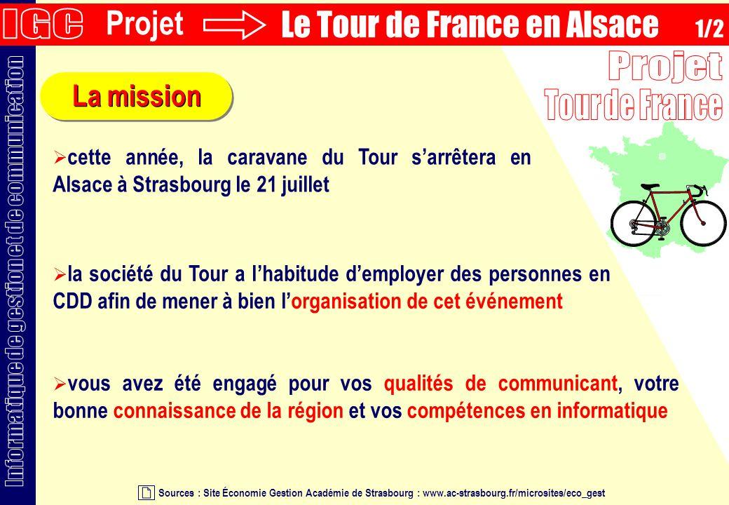 La mission Sources : Site Économie Gestion Académie de Strasbourg : www.ac-strasbourg.fr/microsites/eco_gest vous avez été engagé pour vos qualités de