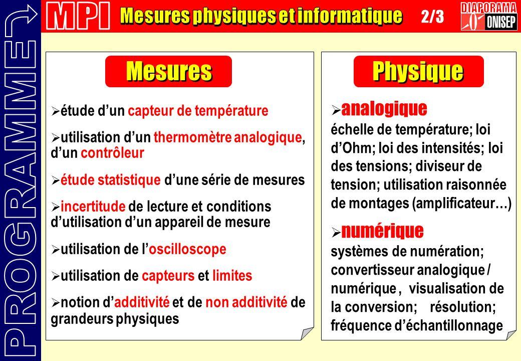 étude dun capteur de température utilisation dun thermomètre analogique, dun contrôleur étude statistique dune série de mesures incertitude de lecture