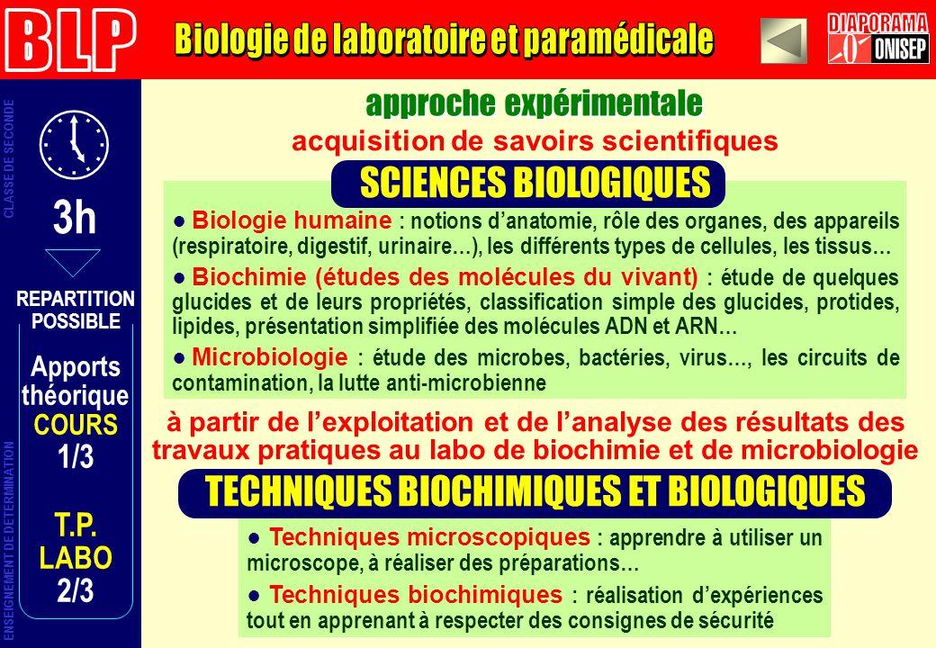 approche expérimentale ENSEIGNEMENT DE DETERMINATION CLASSE DE SECONDE Techniques microscopiques : apprendre à utiliser un microscope, à réaliser des