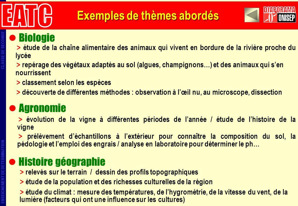 Biologie > étude de la chaîne alimentaire des animaux qui vivent en bordure de la rivière proche du lycée > repérage des végétaux adaptés au sol (algu