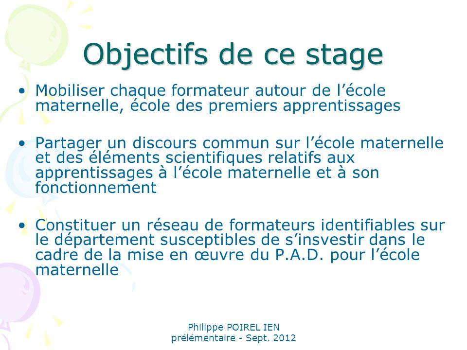 Philippe POIREL IEN prélémentaire - Sept.