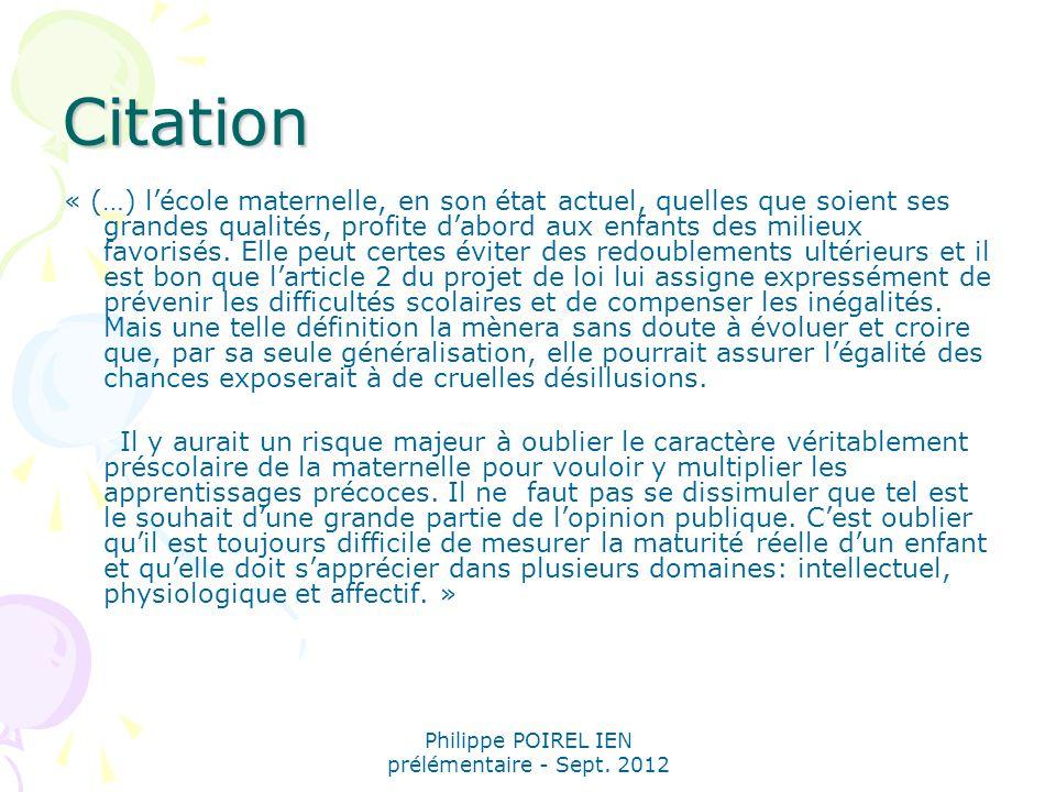 Philippe POIREL IEN prélémentaire - Sept.2012 Apprentissage de la lecture: difficulté ou trouble.