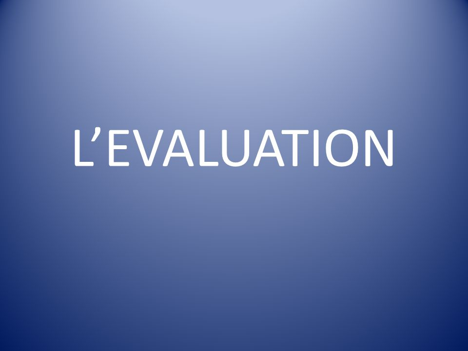 LEVALUATION