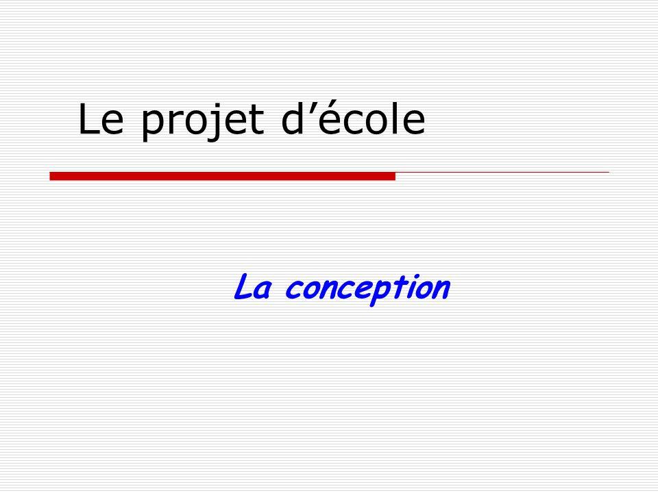 La conception du projet 1)Sappuyer sur le bilan 2006-2009.