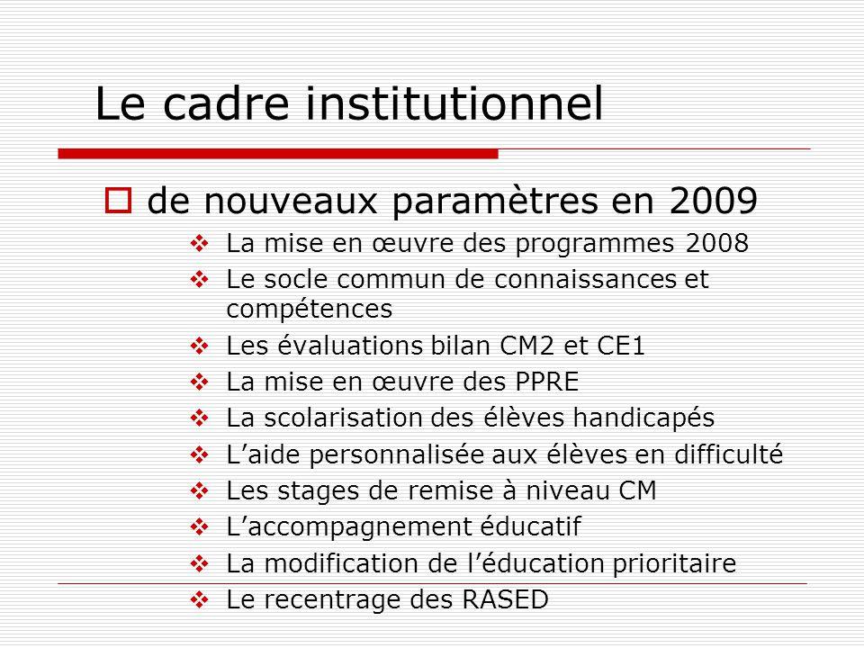 en 1989 : une logique de contextualisation Lélève est placé au centre du système éducatif.
