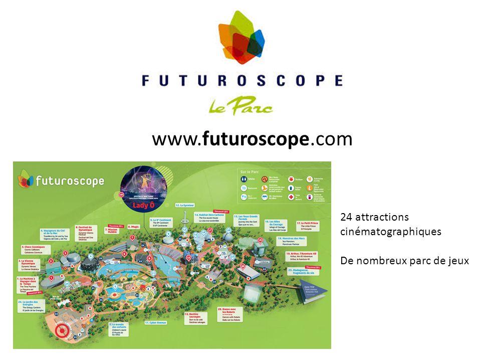 www.futuroscope.com 24 attractions cinématographiques De nombreux parc de jeux
