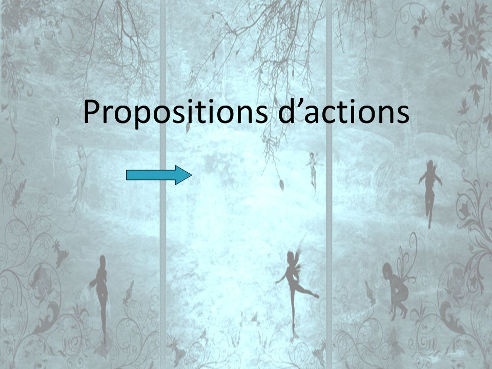 Propositions dactions