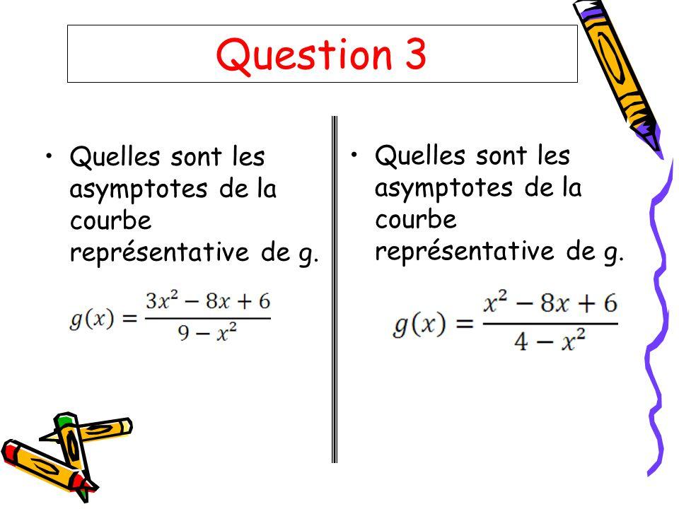 Question 4 Déterminer la dérivée de :