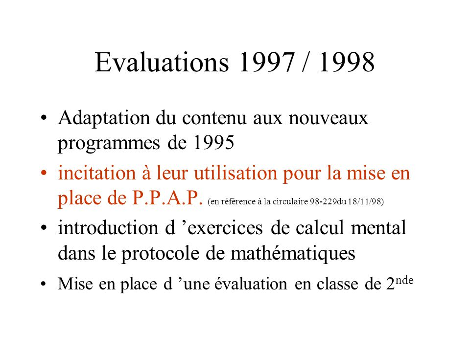 DIRECTION DE LÉVALUATION ET DE LA PROSPECTIVE (N.I.97-24) En septembre 1996, six élèves sur sept entrent en sixième en maîtrisant au moins les compéte