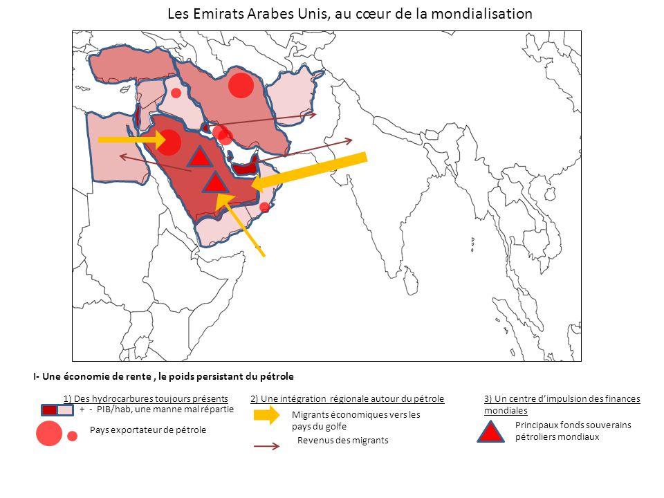 I- Une économie de rente, le poids persistant du pétrole 1) Des hydrocarbures toujours présents + - PIB/hab, une manne mal répartie Pays exportateur d