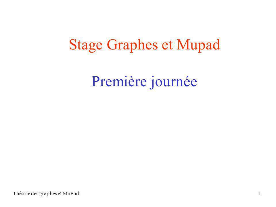 Théorie des graphes et MuPad1 Stage Graphes et Mupad Première journée