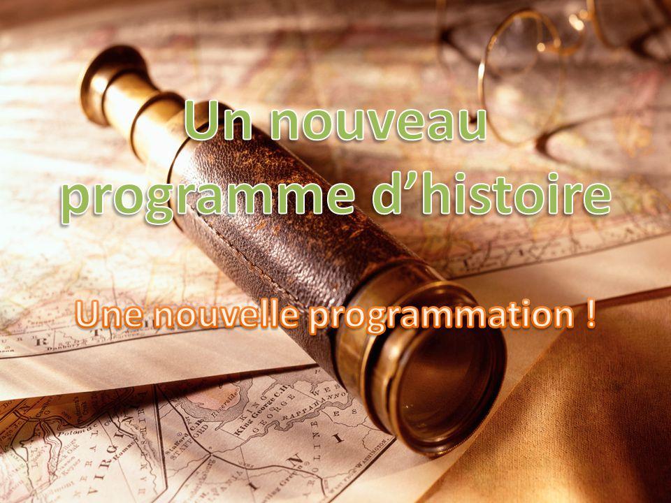 Le programme de 5 e est centré sur létude de grandes civilisations.