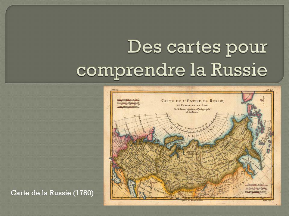 Carte de la Russie (1780)