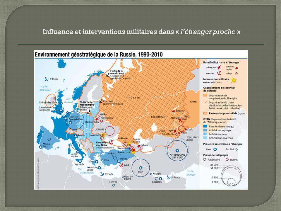 Influence et interventions militaires dans « létranger proche »
