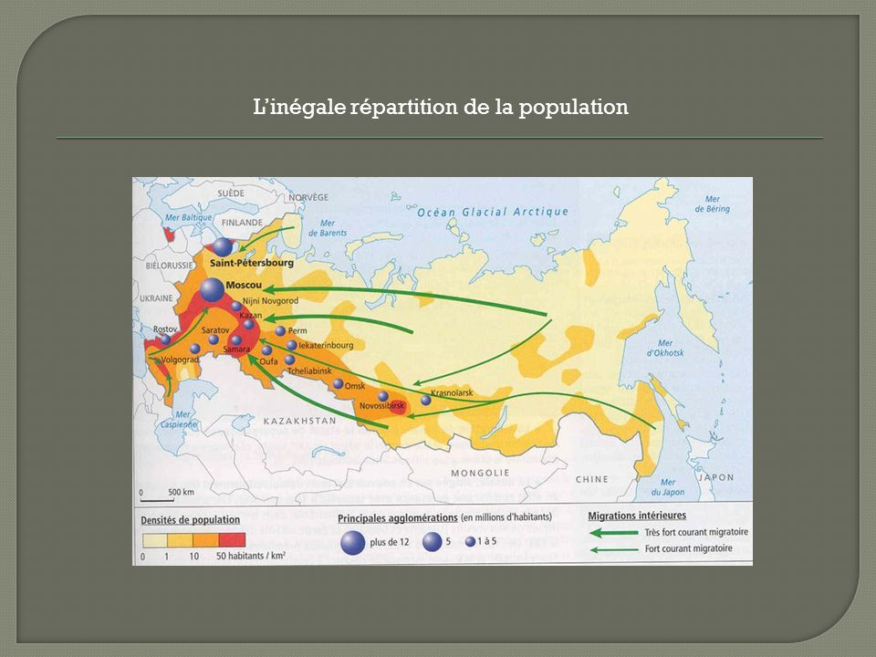Linégale répartition de la population