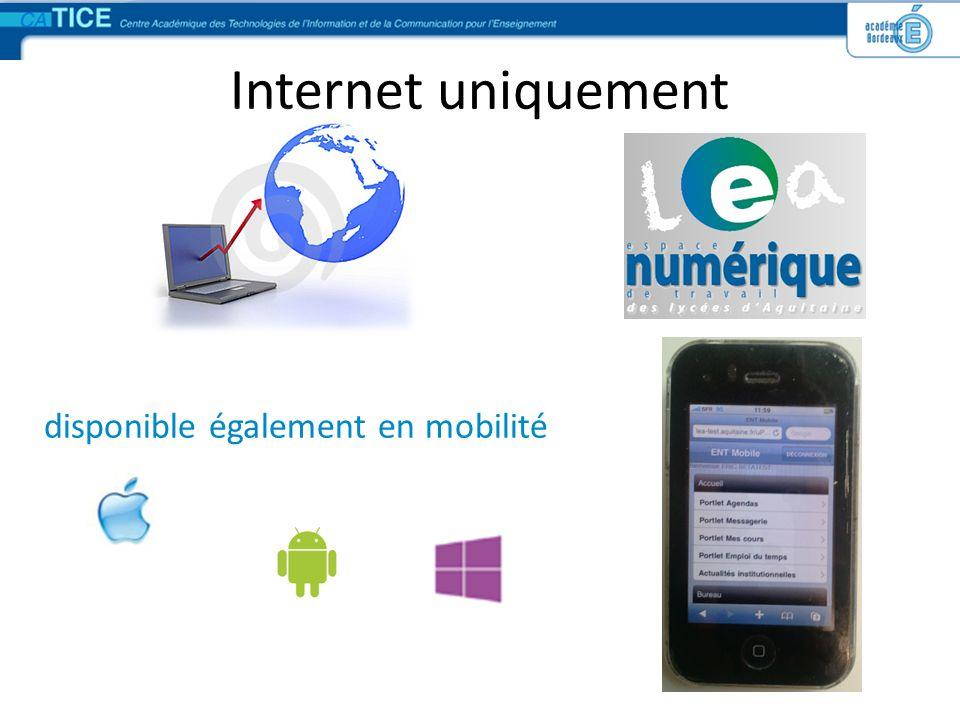 Internet uniquement disponible également en mobilité