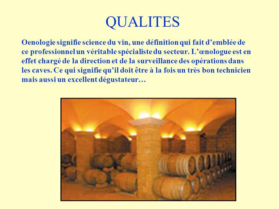 Oenologie signifie science du vin, une définition qui fait demblée de ce professionnel un véritable spécialiste du secteur. Lœnologue est en effet cha