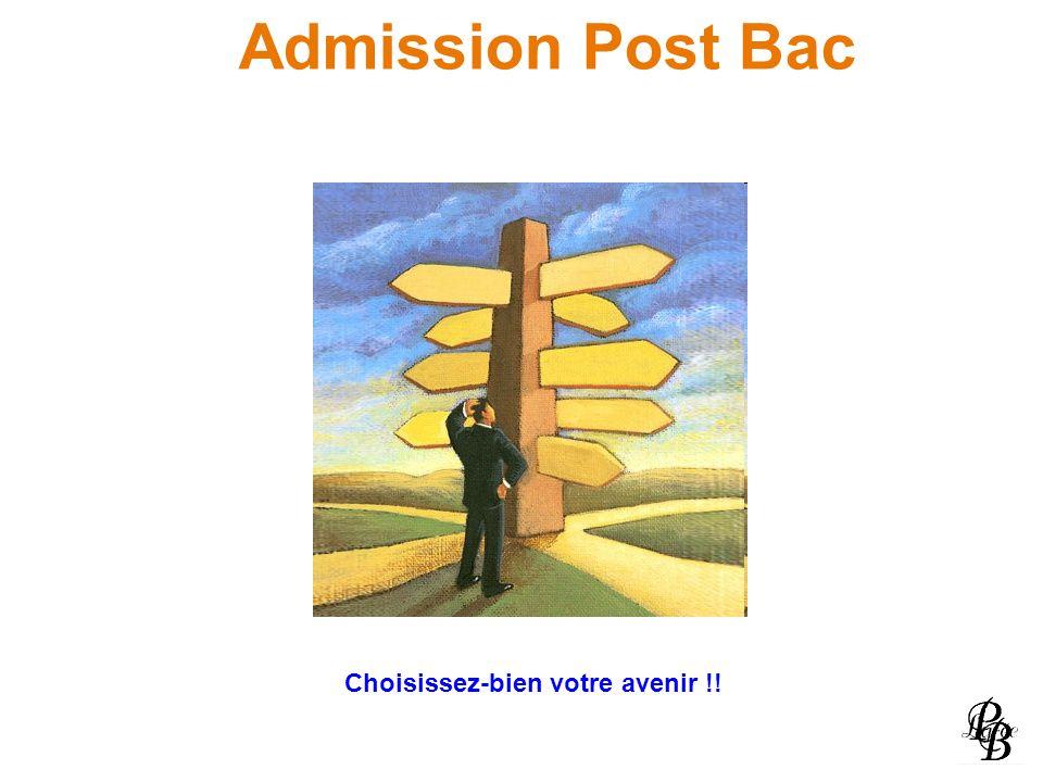 Admission Post Bac Choisissez-bien votre avenir !!