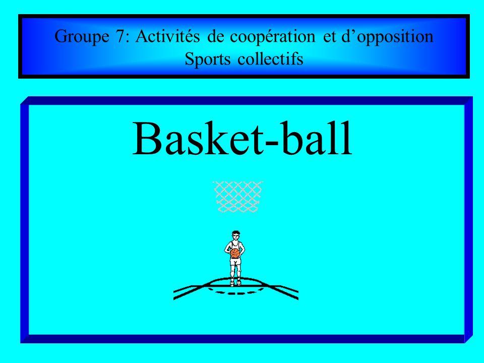 Groupe 7: Activités de coopération et dopposition Sports collectifs Basket-ball