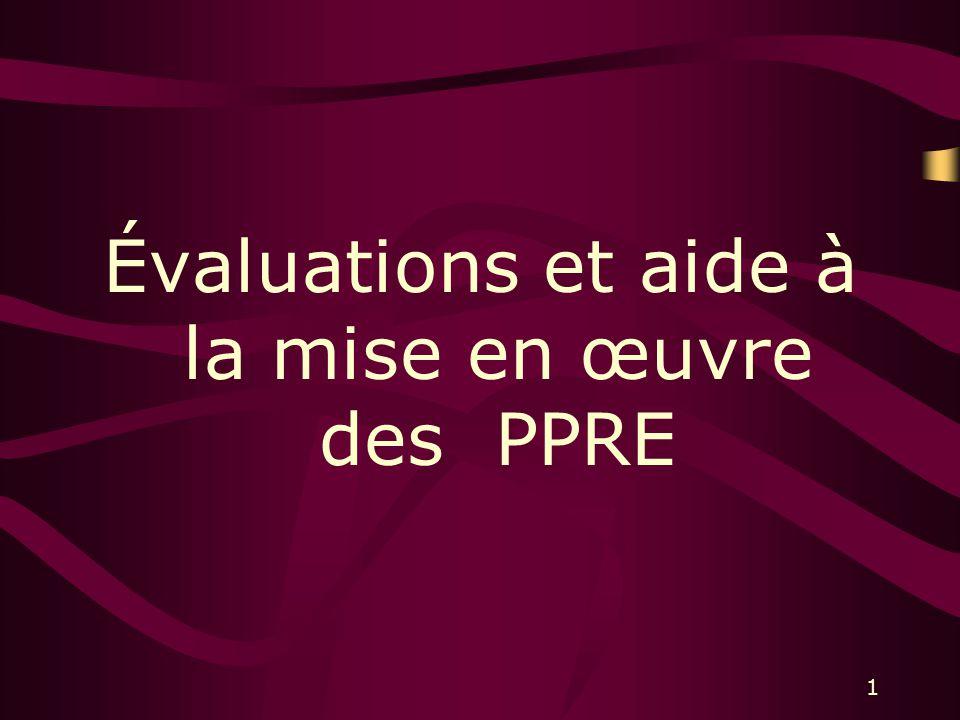 1 Évaluations et aide à la mise en œuvre des PPRE