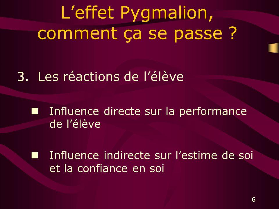 6 Leffet Pygmalion, comment ça se passe .