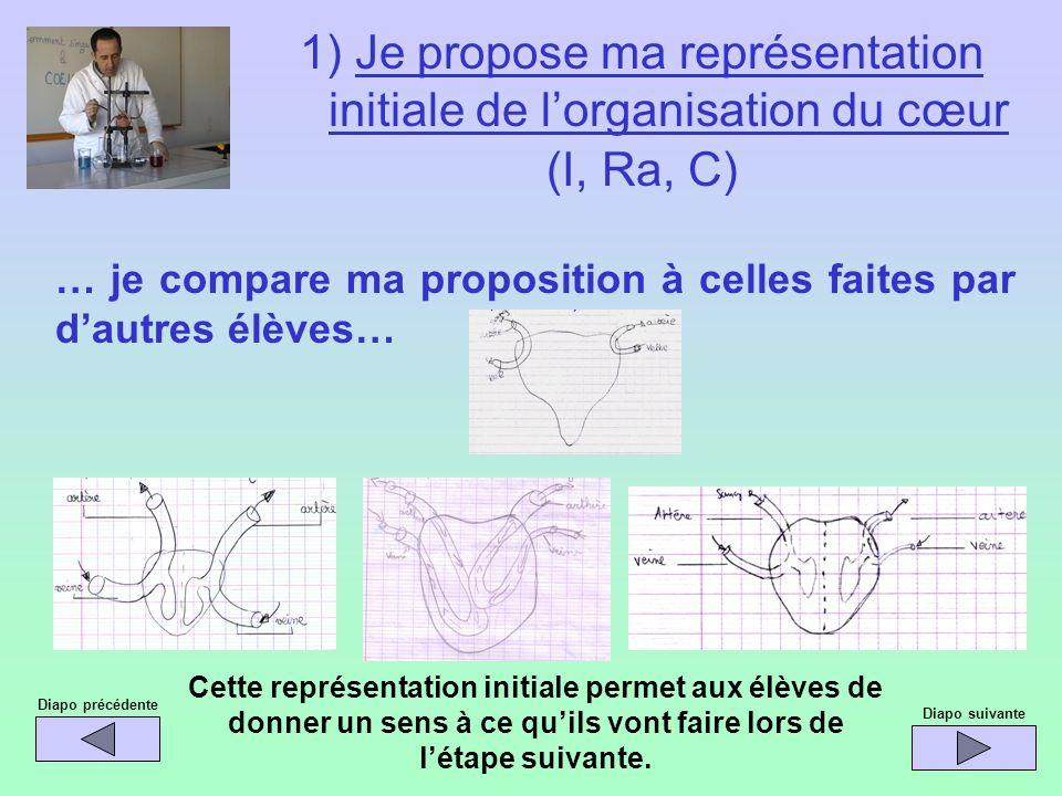 … je compare ma proposition à celles faites par dautres élèves… Diapo précédente Cette représentation initiale permet aux élèves de donner un sens à c