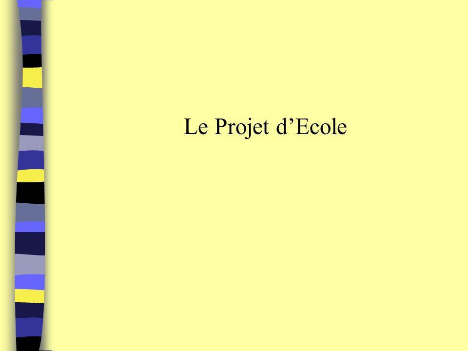 Le Projet dEcole