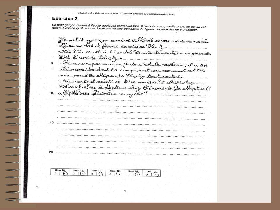 Etape 2 Réécriture du texte – un groupe en écrivant plus de phrases (10), un autre moins de P(5) – Effets produits Retour a des formulations simplifiées pour faire fonctionner la conjugaison des verbes et traiter des questions orthographiques Réécriture du texte – un groupe en écrivant plus de phrases (10), un autre moins de P(5) – Effets produits Travail sur différentes formulations et observation des GS et GV Conjugaison Orthographe Réécriture du texte – un groupe en écrivant plus de phrases (10), un autre moins de P(5) – Effets produits Travail sur la relative et le CCT en tête de P.