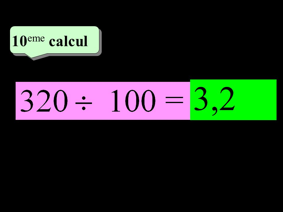 –1–1 5 eme calcul 5 eme calcul 10 eme calcul 3,2