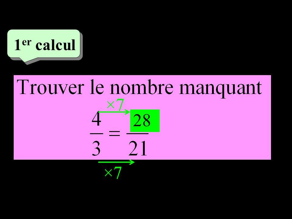 –1–1 1 er calcul ×7 28