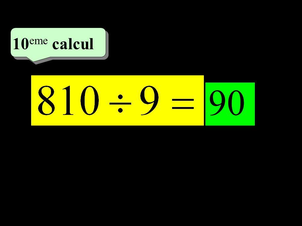 –1–1 5 eme calcul 5 eme calcul 10 eme calcul 90