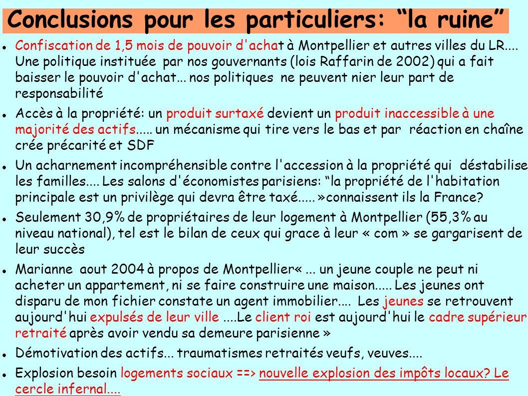 Confiscation de 1,5 mois de pouvoir d achat à Montpellier et autres villes du LR....
