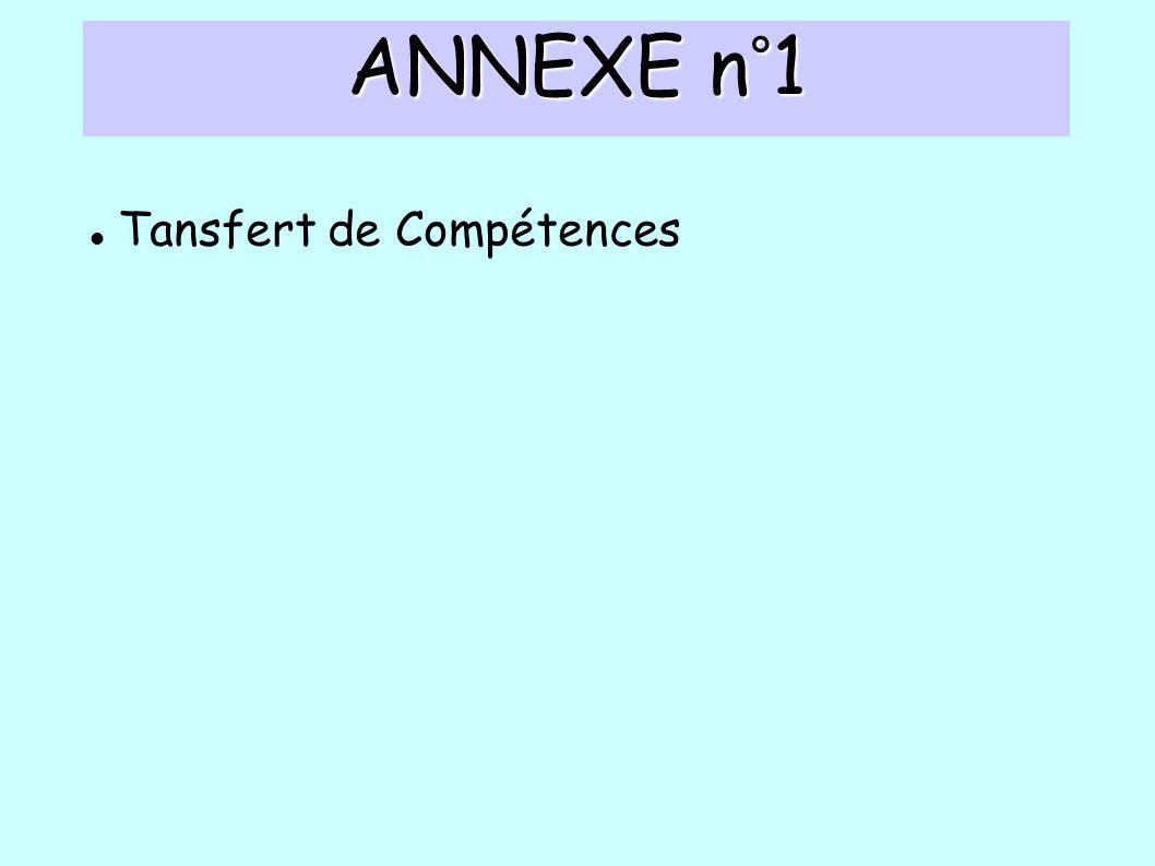 ANNEXE n°1 Tansfert de Compétences