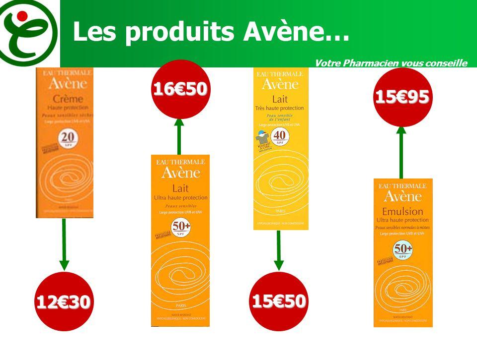 Votre Pharmacien vous conseille Les produits Avène… 1230 1650 1550 1595