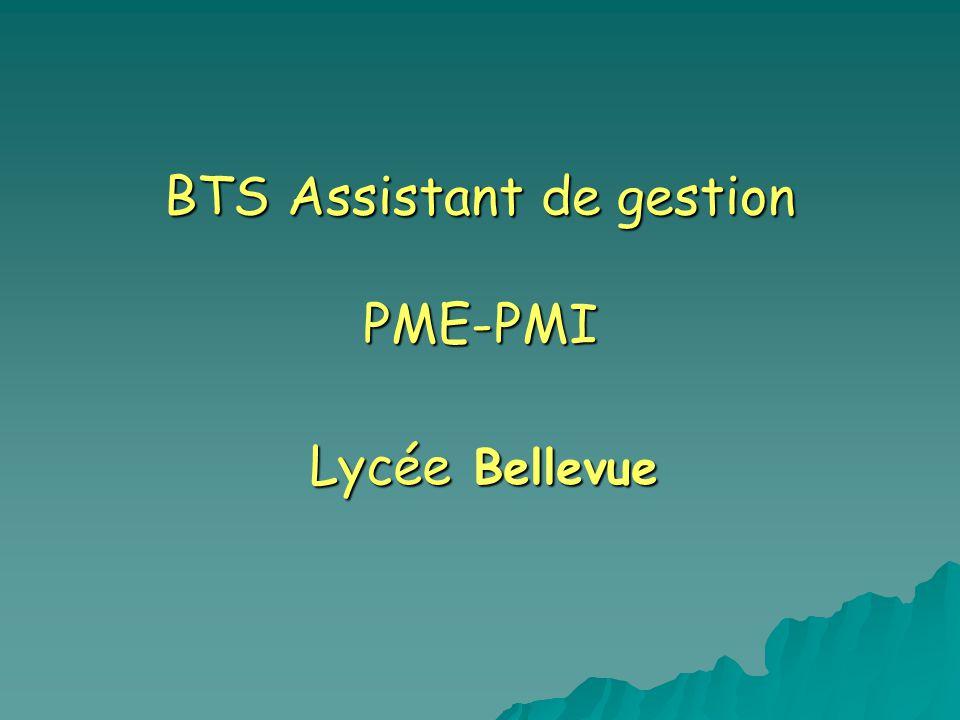 BTS Assistant de gestion PME-PMI Lycée Bellevue