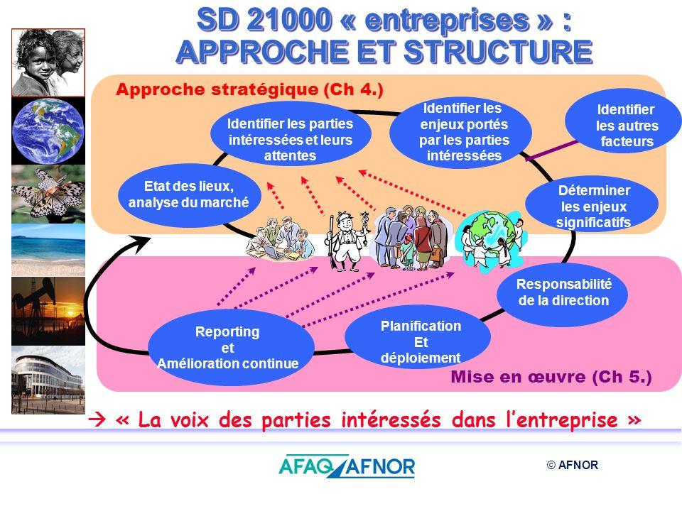 © AFNOR Identifier les parties intéressées et leurs attentes Identifier les enjeux portés par les parties intéressées Identifier les autres facteurs E